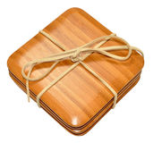 Bamboo Wood Coasters Royalty Free Stock Image