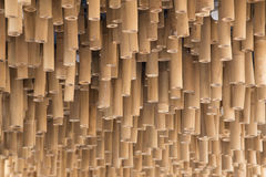 Bamboo wood decoration on ceiling background Royalty Free Stock Photo
