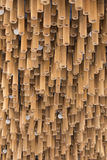 Bamboo wood decoration on ceiling background Royalty Free Stock Photography