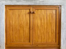 Bamboo wood design door background royalty free stock images