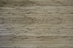 Bamboo wood flat surface background. In horizon stripe pattern Royalty Free Stock Images