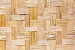 Bamboo wood texture. In the room stock photography