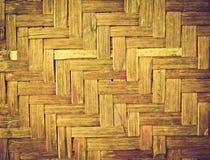 Bamboo wood texture ,Thai handwork Royalty Free Stock Image
