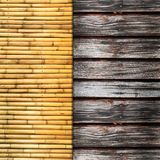 Bamboo and wood Stock Photography