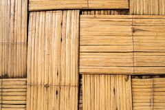 Bamboo wood weave for a base with zigzag surface. Background picture Royalty Free Stock Photos