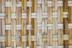 Bamboo wood weaves handmade texture Royalty Free Stock Images