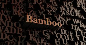 Bamboo - Wooden 3D rendered letters/message Stock Photo