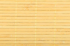 Bamboo wooden light yellow wicker braided mat background Royalty Free Stock Photos