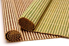 Bamboo Wooden Placemats Royalty Free Stock Photo