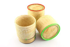 Bamboo wooden rice box Royalty Free Stock Photos
