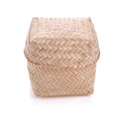 Bamboo wooden rice box call Kratib Rice in Thailand Stock Photo