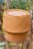 Bamboo wooden rice box. In Northeast, thailand Stock Photography