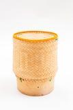 Bamboo wooden rice box Stock Photos