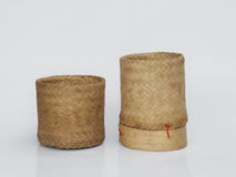 Bamboo wooden rice box. In thailand Royalty Free Stock Photography