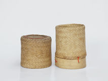Bamboo wooden rice box. In thailand Stock Images