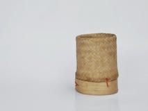 Bamboo wooden rice box. In thailand Stock Photos
