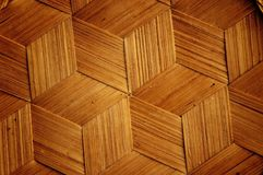 Bamboo wooden texture hexagon shape style Stock Image