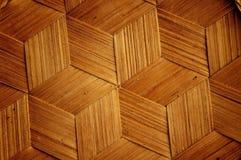 Bamboo wooden texture hexagon shape style Stock Image