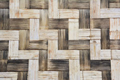 Bamboo wooden weave pattern background. Stock Image