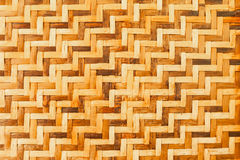 Bamboo wooden weave texture background Stock Photography