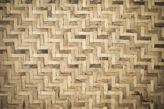 Bamboo wooden weave texture background Royalty Free Stock Photography
