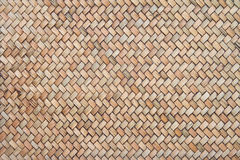 Bamboo woven background stock image