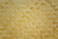 Bamboo woven background and textured Royalty Free Stock Photography