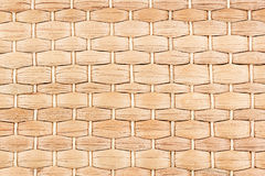 Bamboo woven beige mat handmade background. Wicker wood texture. Horizontal strips Stock Photography