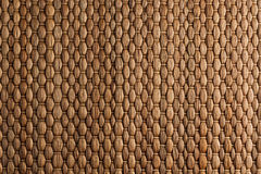 Bamboo woven brown mat handmade background. Stock Photo