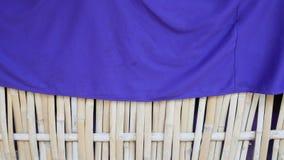 Bamboo woven flat mat natural bamboo background. stock photo