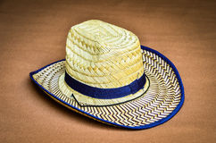 Bamboo woven hat Stock Photo
