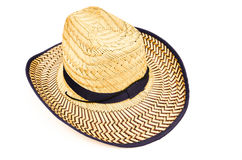Bamboo woven hat Royalty Free Stock Images