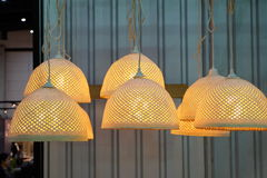 Bamboo woven lamp Stock Image