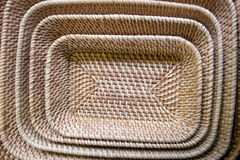 Bamboo woven products Royalty Free Stock Photography