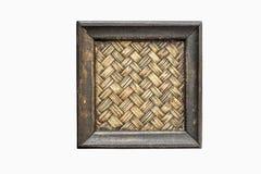 Bamboo woven saucer Stock Photography