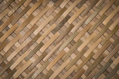 Bamboo woven textured and background Stock Photography