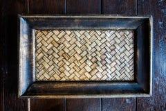 Bamboo Woven Tray Stock Photography