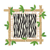 Bamboo and zebra Stock Image