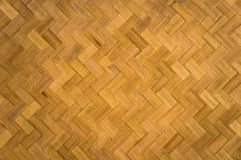 Bamboo zigzag pattern. Pattern of bamboo stripes usually use for the house wall in Nortn of Thailand Stock Image