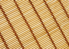 Bamboomat. A bamboo and wooden mat Royalty Free Stock Photography