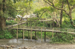 Bamboos bridge Stock Image