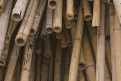 Bamboos for chinese construction site Royalty Free Stock Image