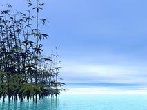 Bamboos - 3D render Royalty Free Stock Photos