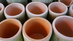Bambou fait de la tasse Photos libres de droits
