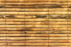 Bambou jaune horizontal pour la texture de fond Image libre de droits