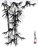 Bambou oriental illustration de vecteur