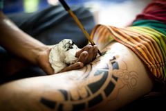 Bambou traditionnel de tatouage Image stock