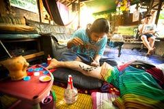 Bambou traditionnel de tatouage Image libre de droits