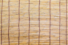 Bambu blind. A Old Bamboo curtain background Royalty Free Stock Photo