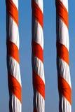 Bambu coberto com a fotografia colorida de pano Imagens de Stock